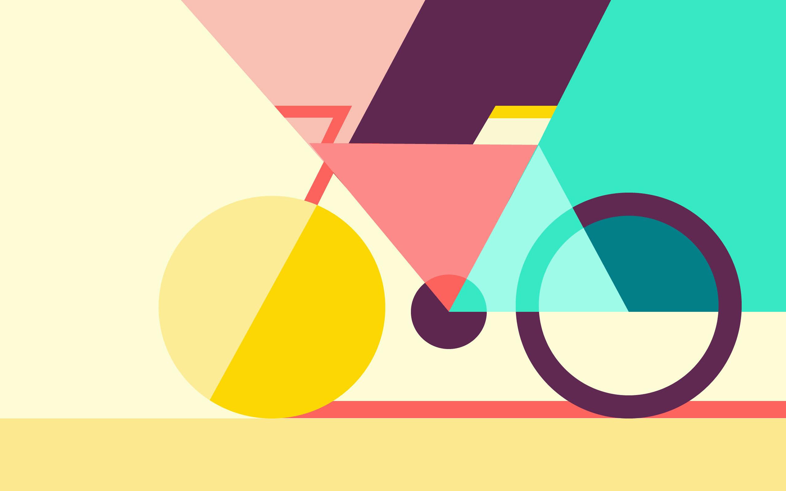 Геометрический абстрактный велосипед обои скачать