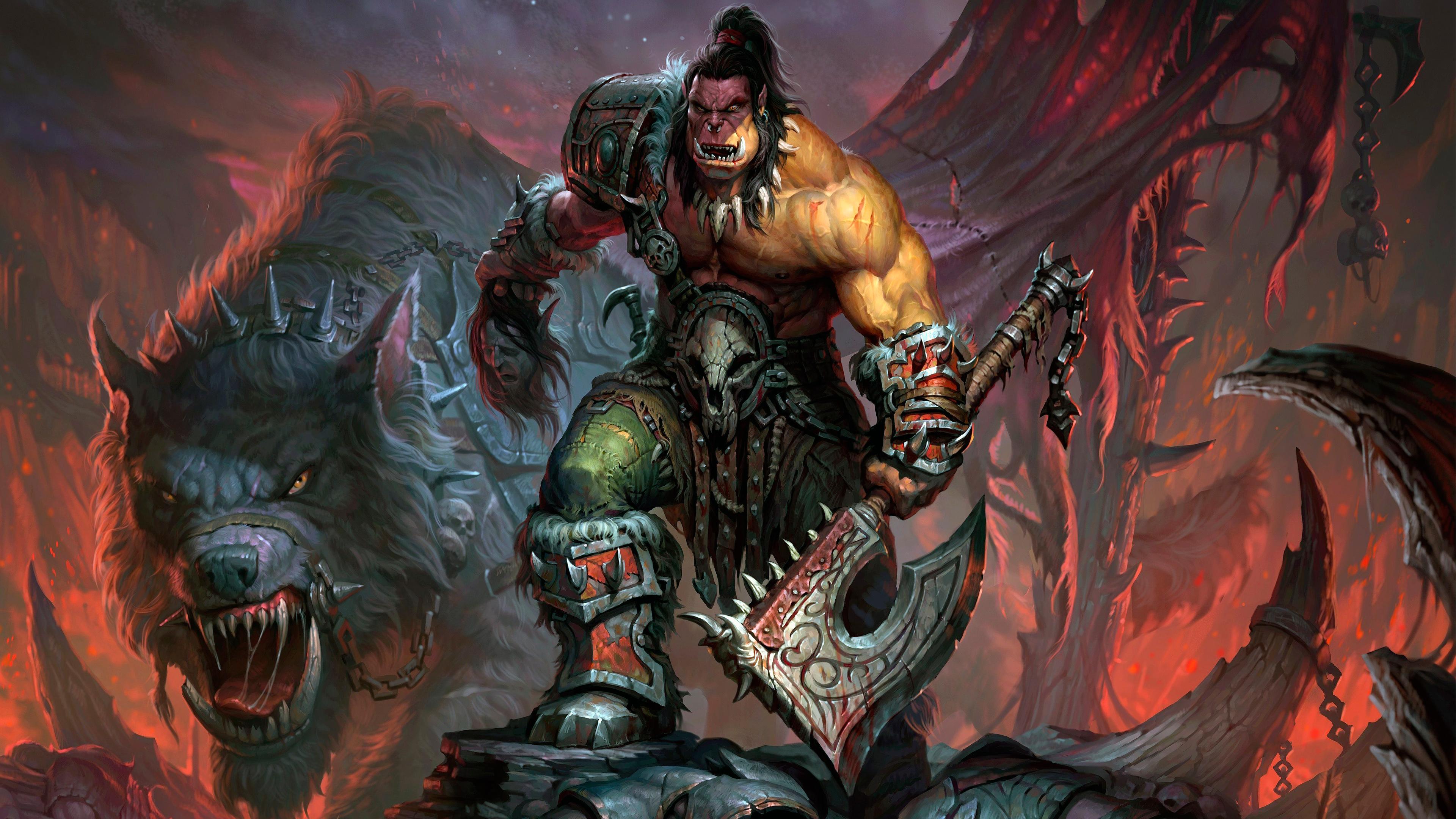 World of Warcraft Orc обои скачать