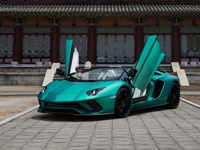 Lamborghini aventador s корейский родстер специальной серии 2021 7 автомобилей