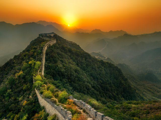 Великая Китайская стена закат