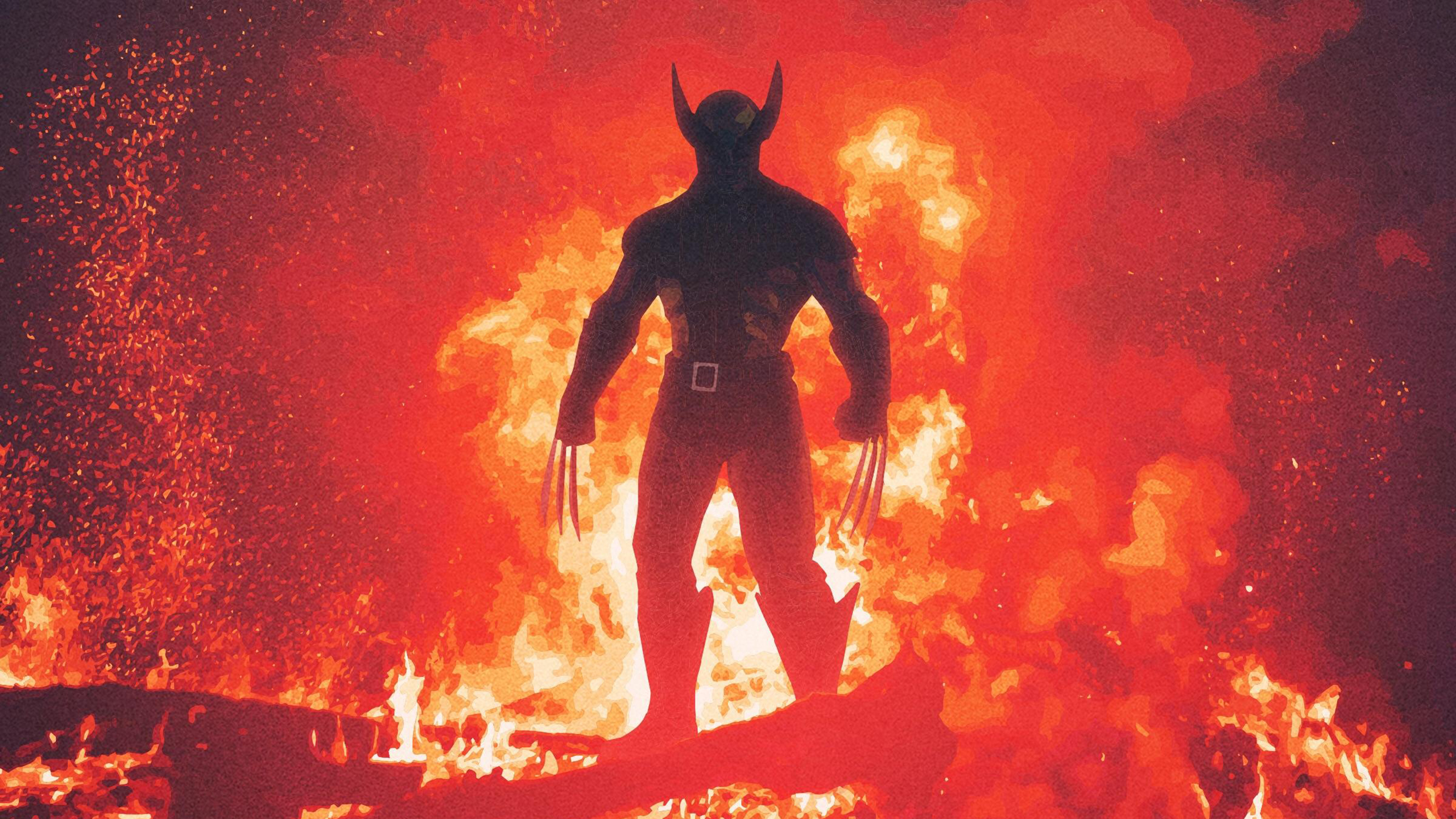 Wolverine произведения искусства обои скачать