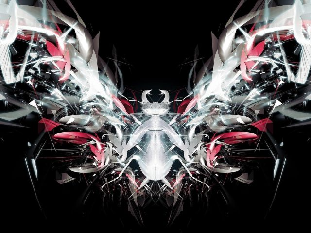 Паук темный абстрактный