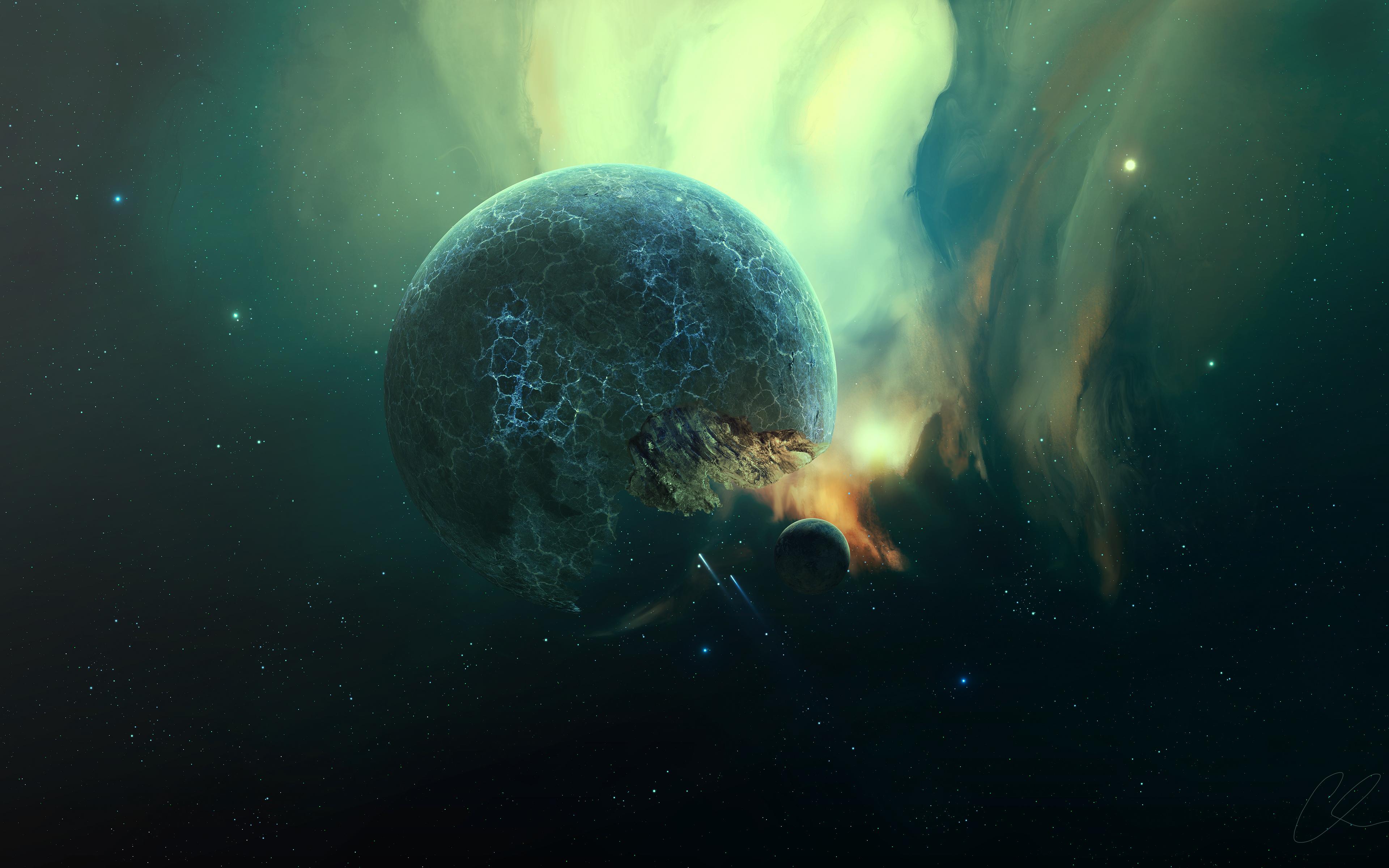 Трещины планеты обои скачать