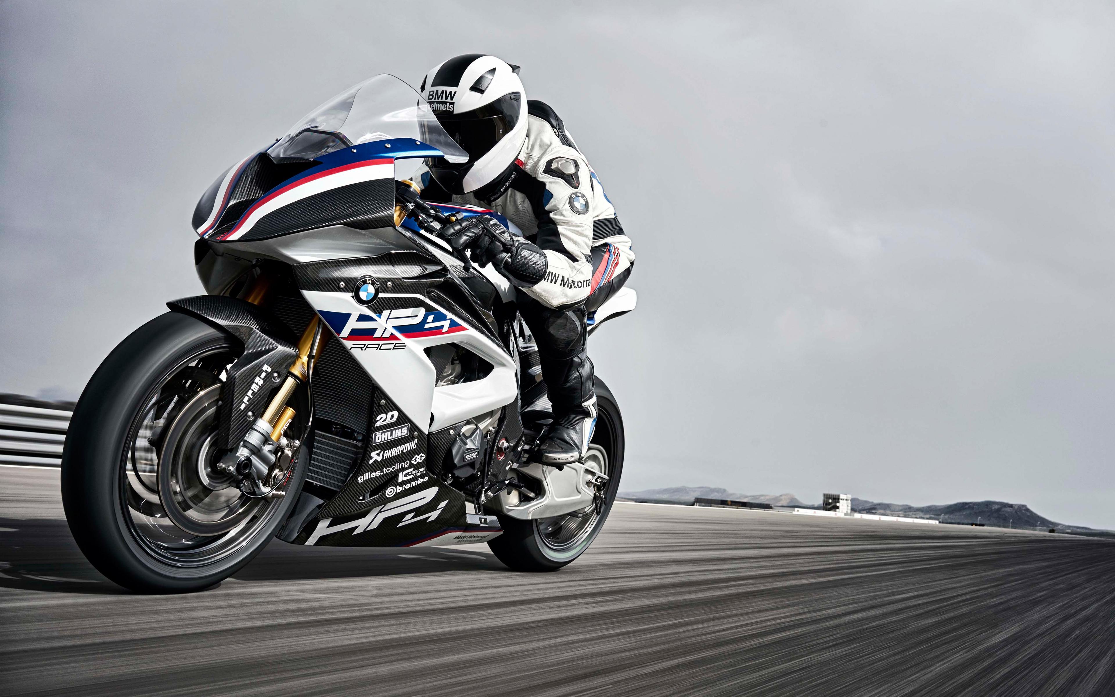 Bmw hp4 race bike 4k. обои скачать