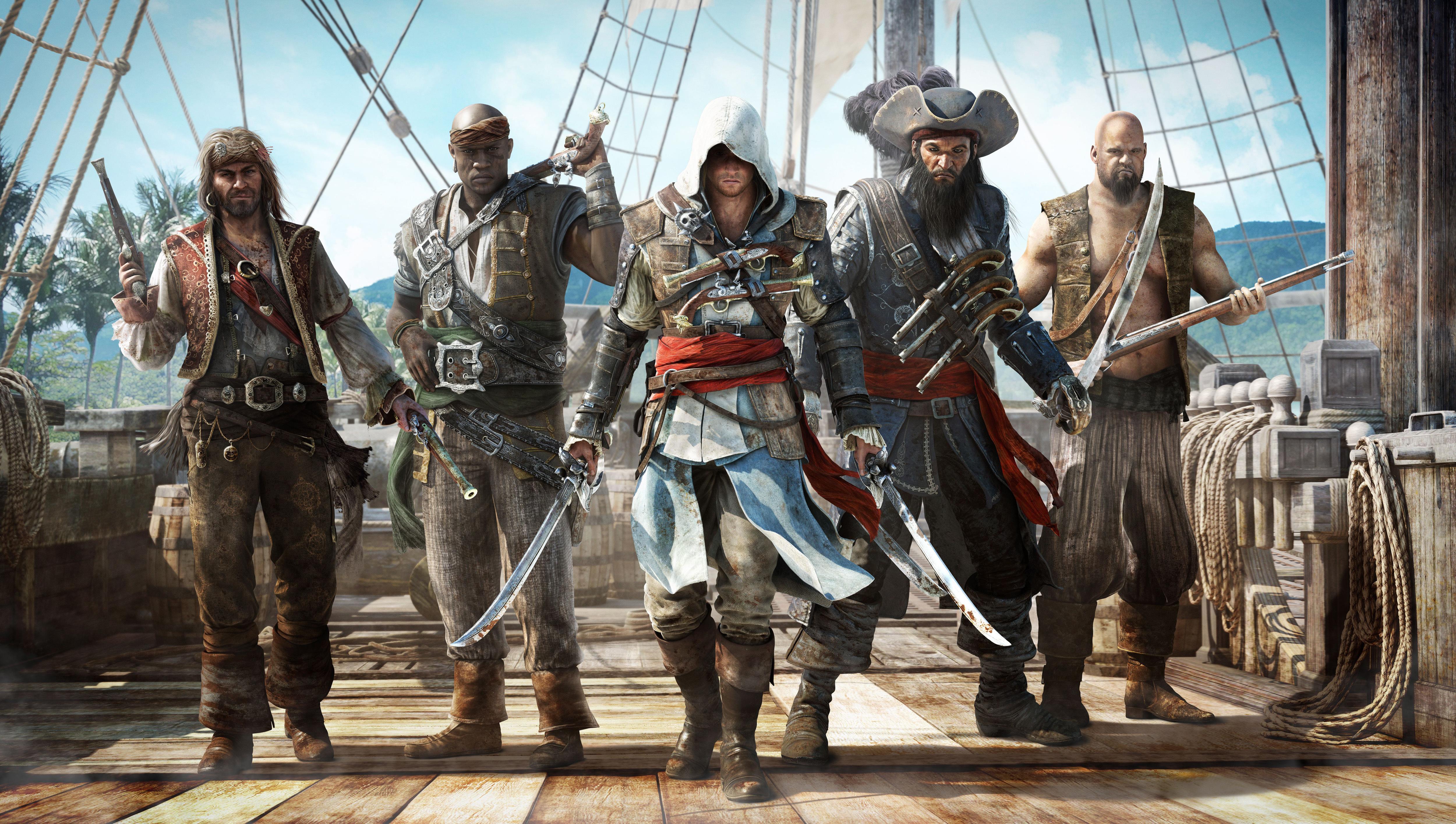 Assassin's Creed IV: Black Flag, Кредо Убийцы 4: Черный Флаг, пираты, ассасин обои скачать