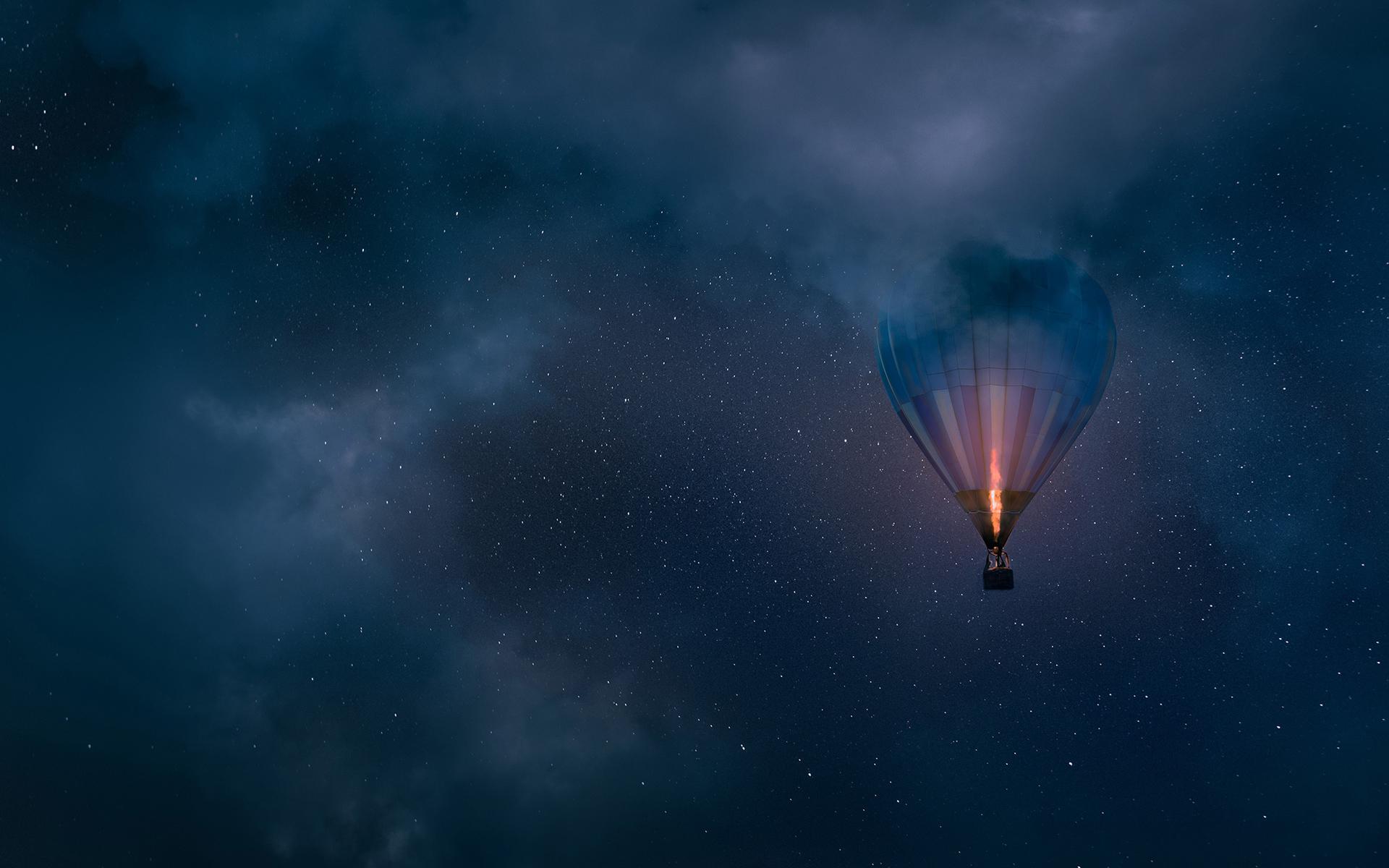 Ночной полет обои скачать
