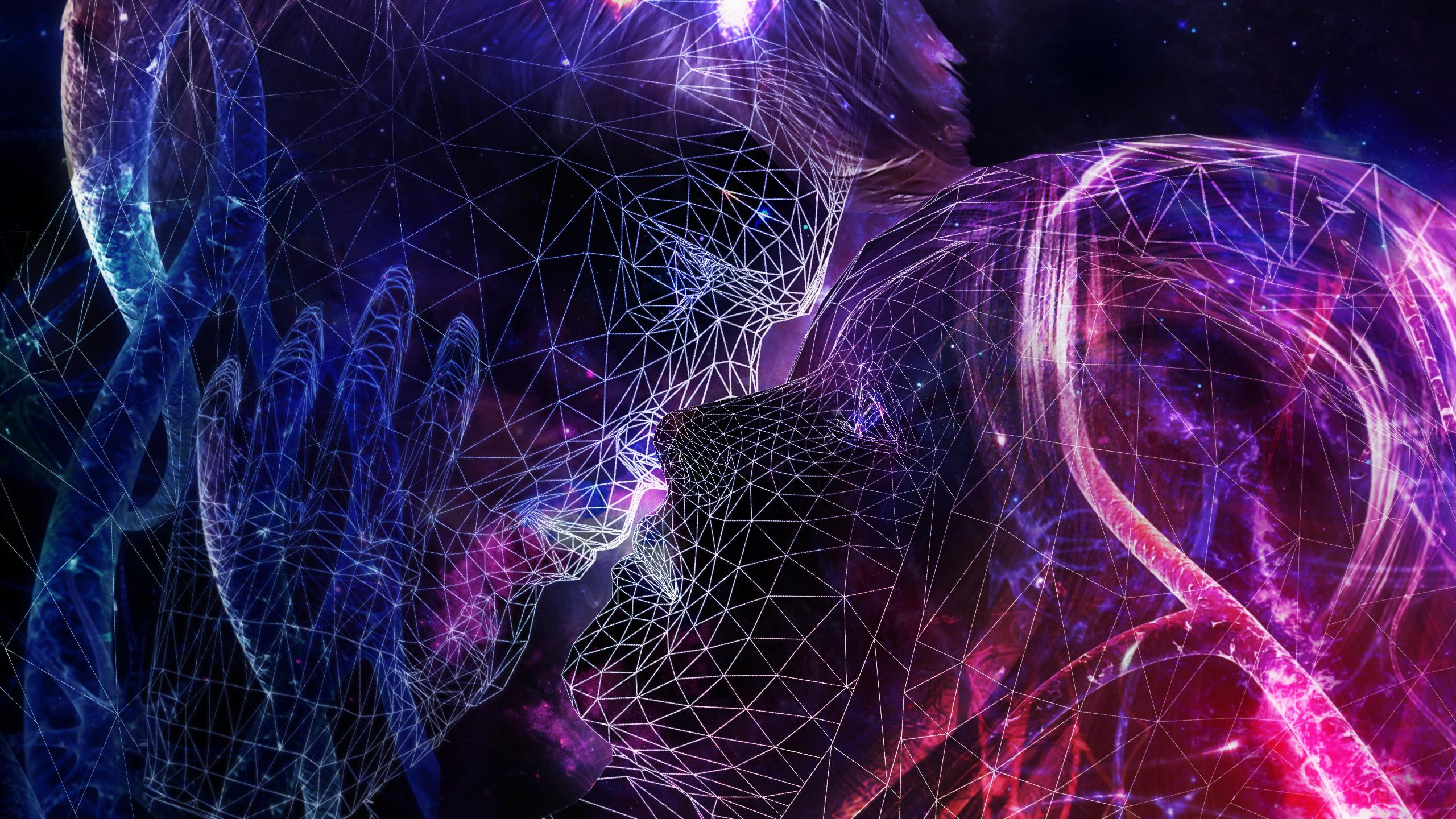 Космическая любовь пара поцелуй обои скачать