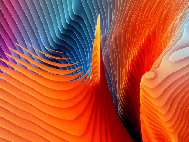 Оранжевый синий розовый mac os sierra формы абстрактные