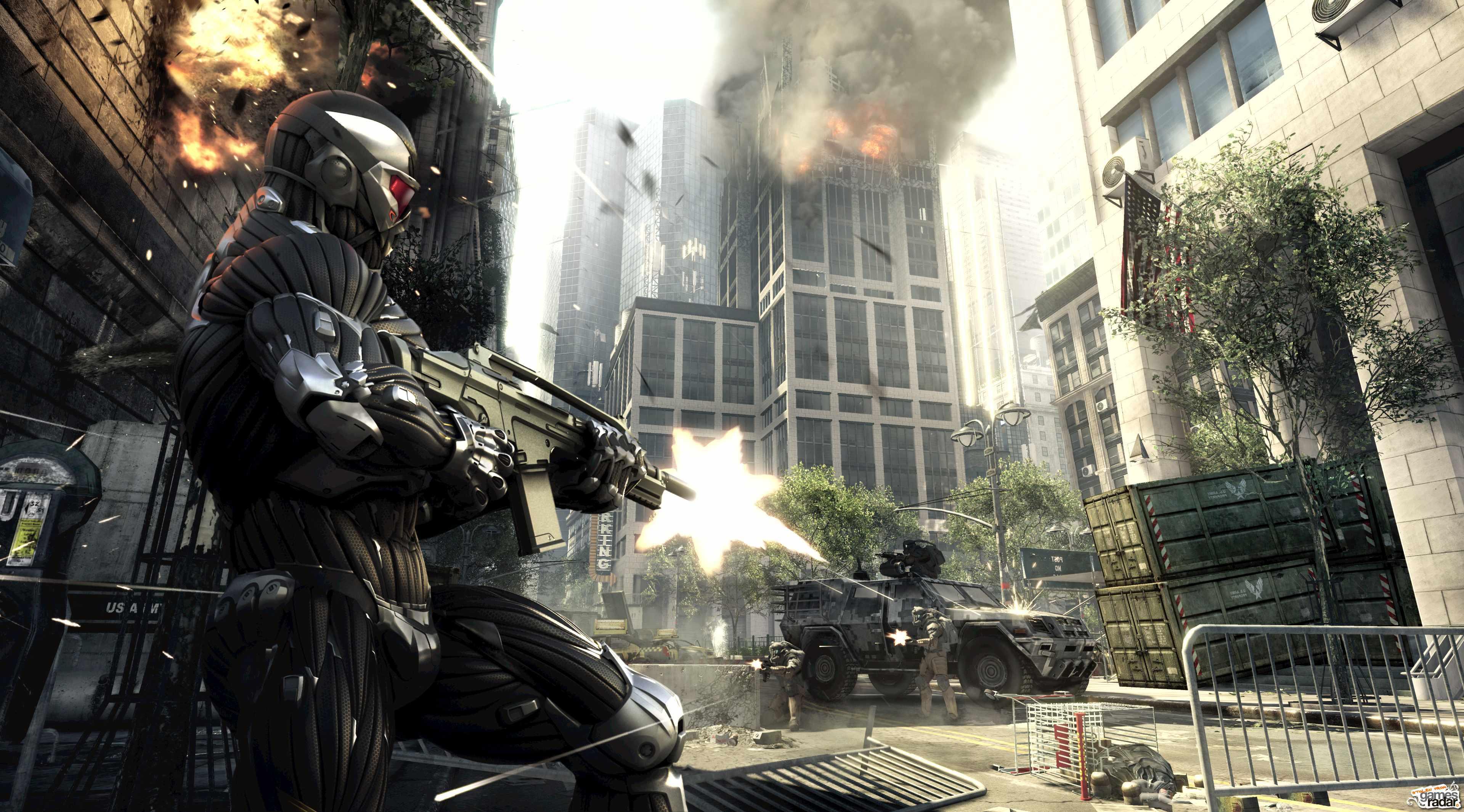 Crysis 2, Кризис 2, Оружие, Бойня обои скачать