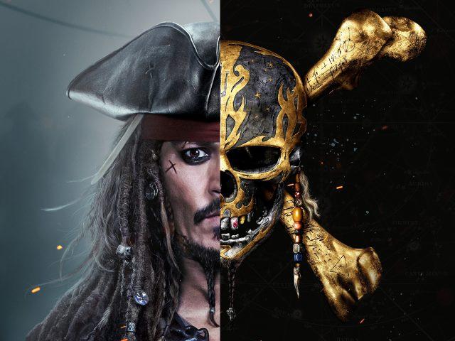 Джек Воробей Пираты Карибского моря salazars месть 8к.