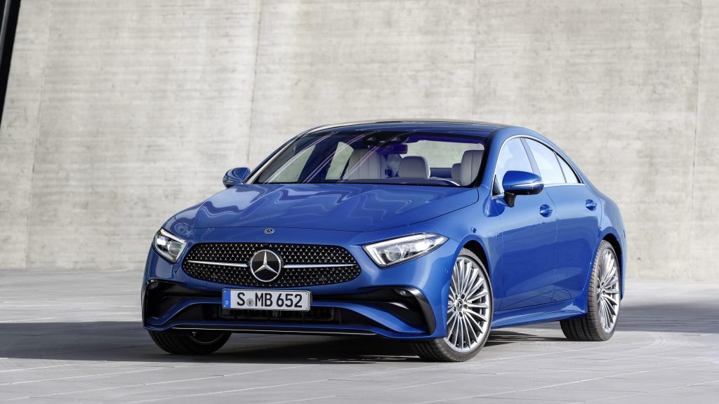Mercedes benz cls 350 amg line 2021 2 автомобиля обои скачать