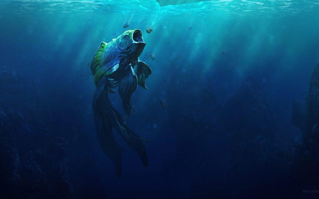 Дикий монстр рыбка. обои скачать