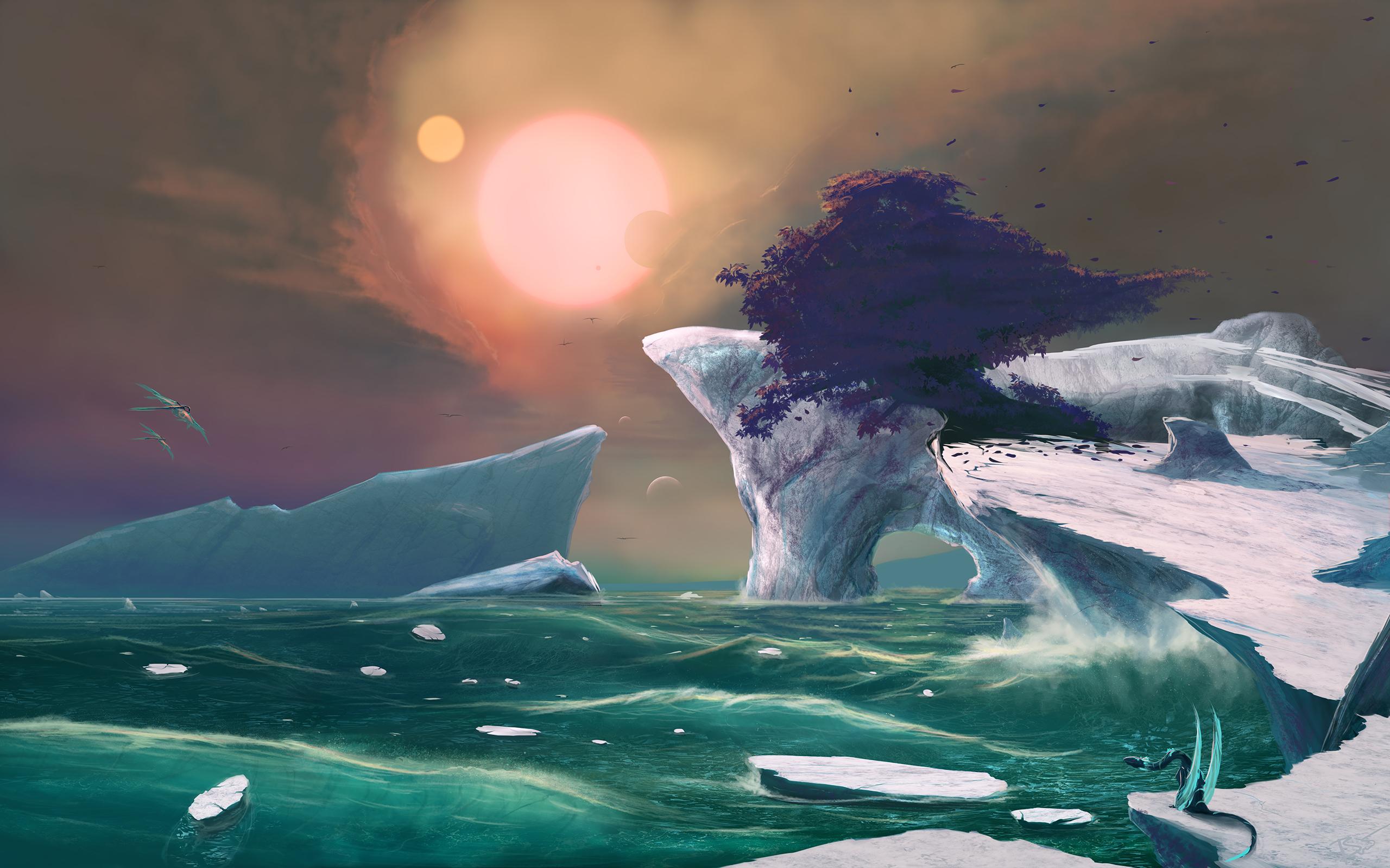 Ледники солнца и Луны обои скачать