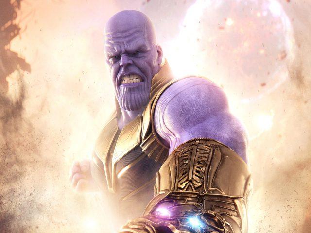 Танос Мстители война бесконечности