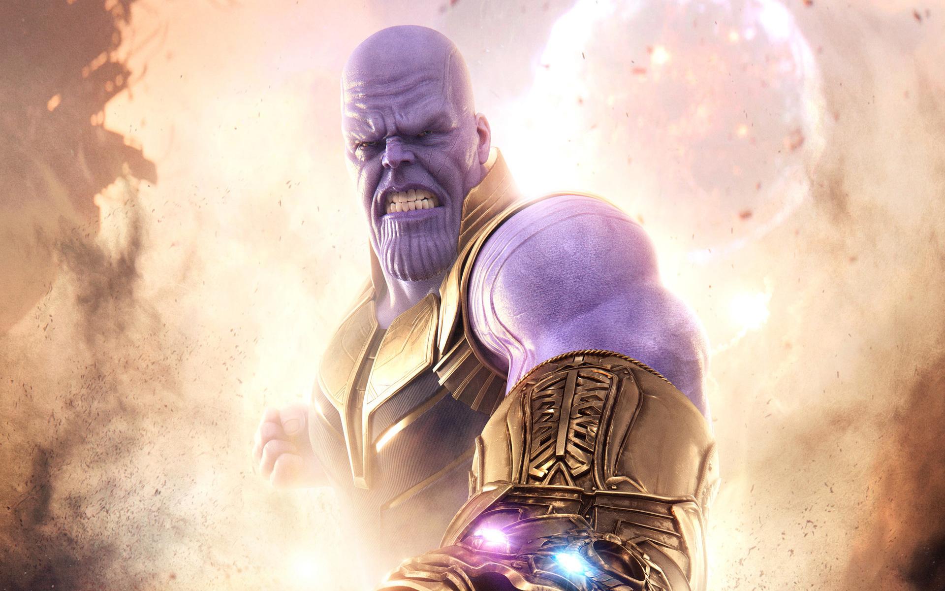 Танос Мстители война бесконечности обои скачать