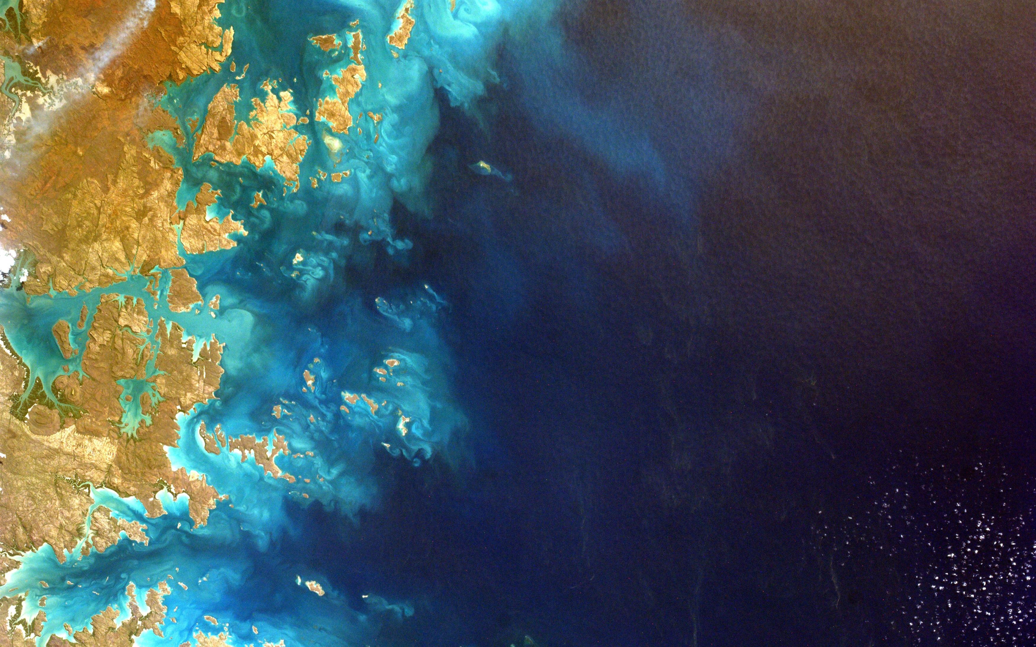 Северо-Западная Австралия из космоса обои скачать
