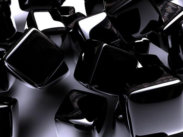 Черные кубики абстрактные