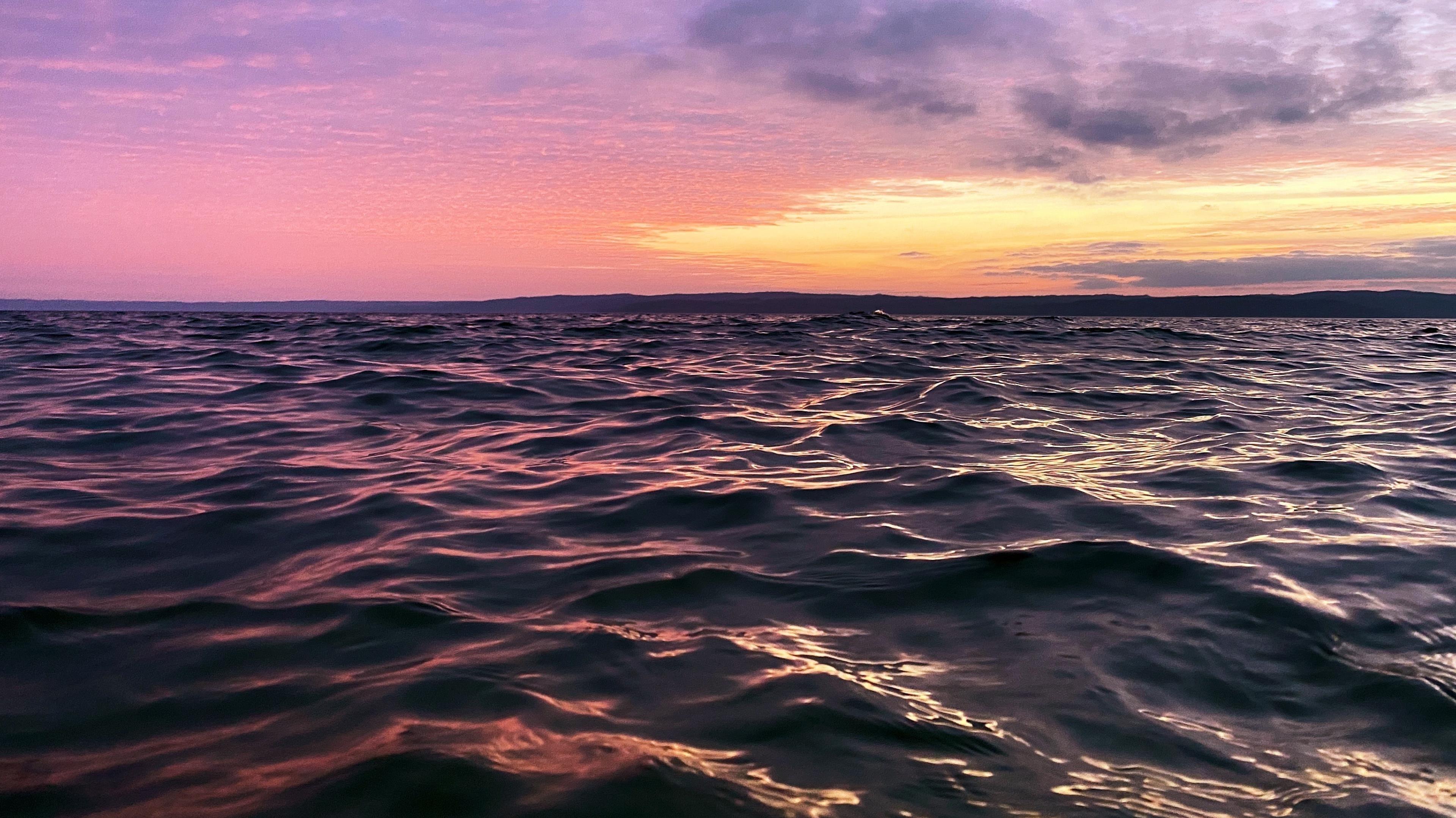 Морской пейзаж после захода солнца обои скачать