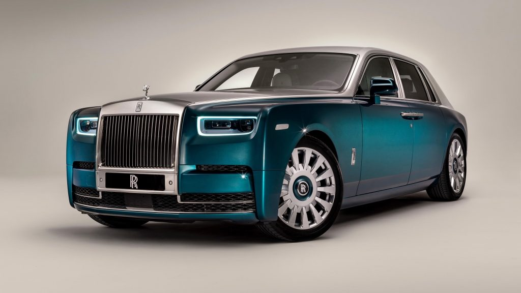 Rolls-royce phantom iridescent opulence 2021 2 автомобиля обои скачать