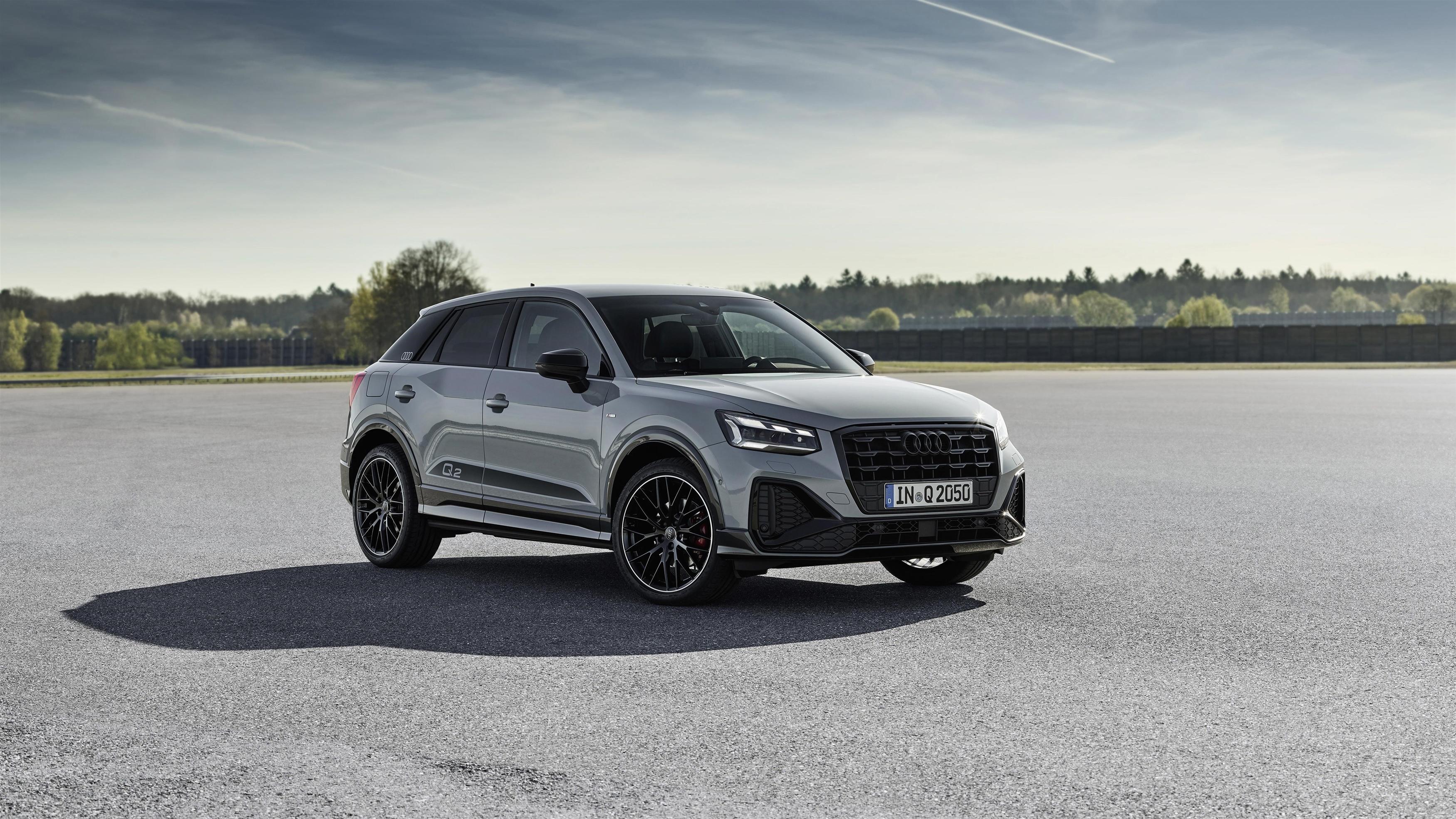 Audi q2 35 tfsi S line 2020 3 автомобиля обои скачать