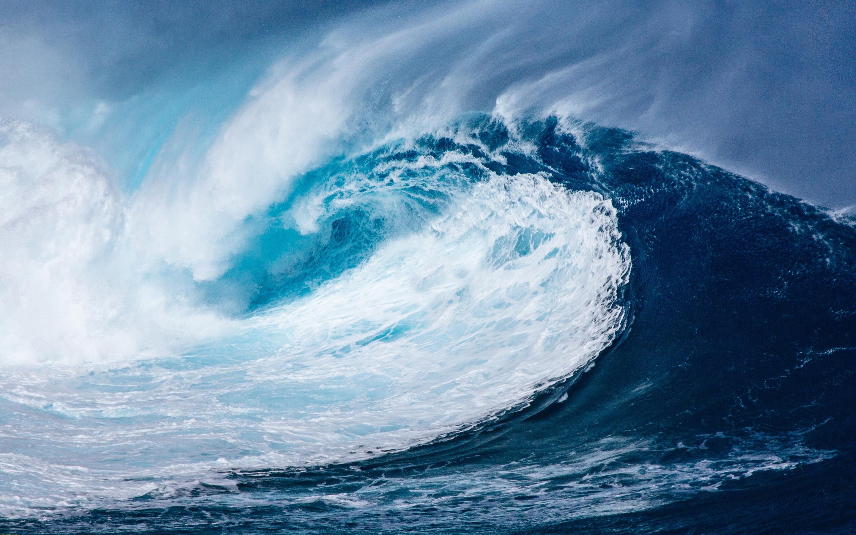 Приливные волны. обои скачать