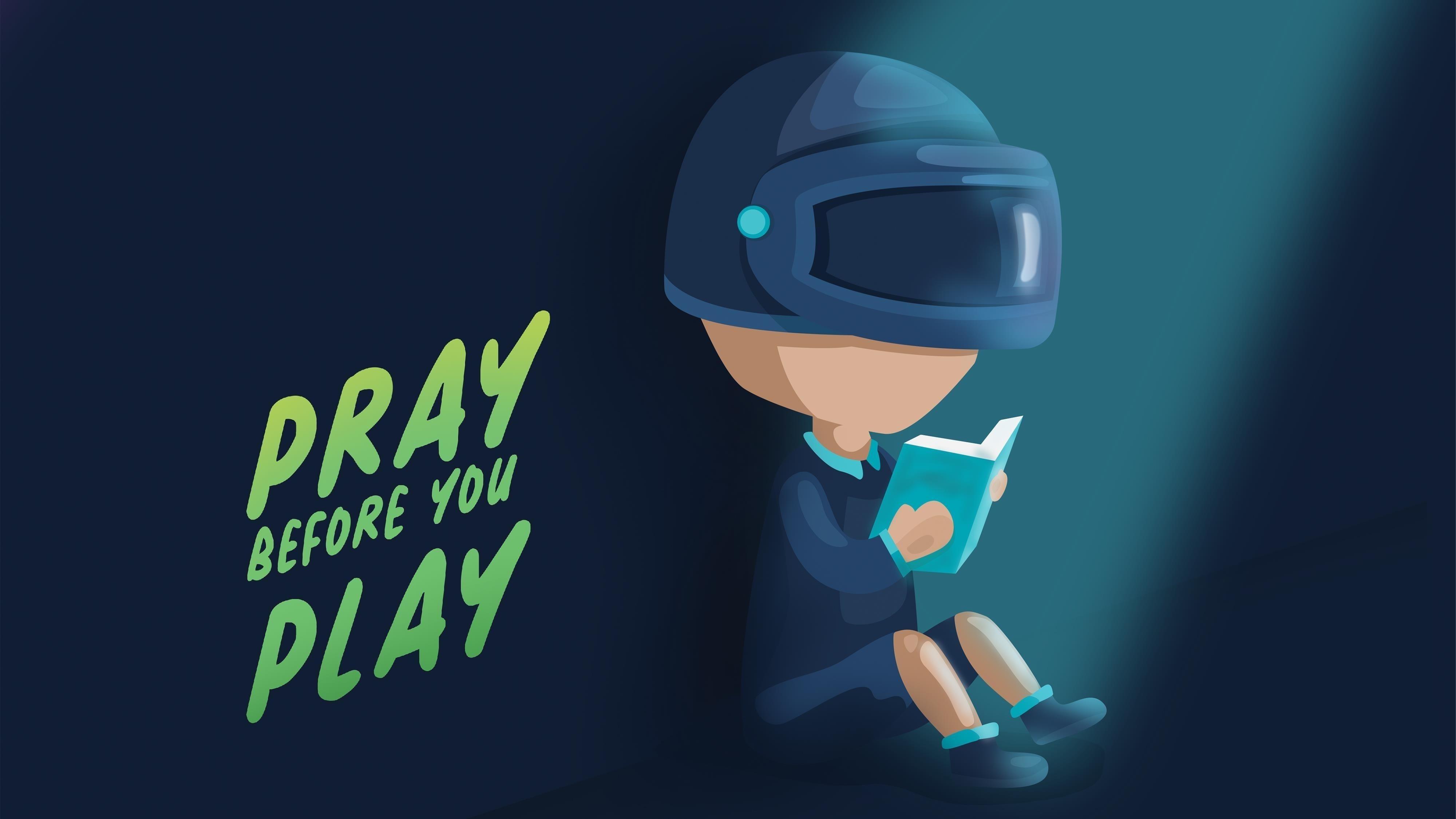 Pubg молитесь, прежде чем играть обои скачать
