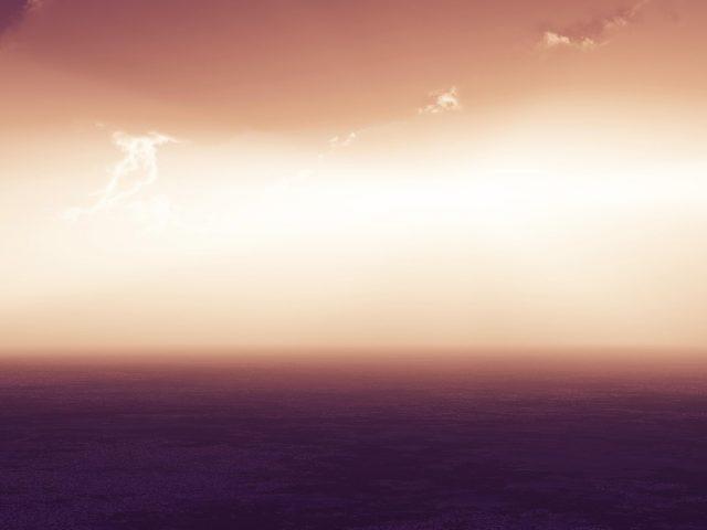 Морской пейзаж горизонт сумерки