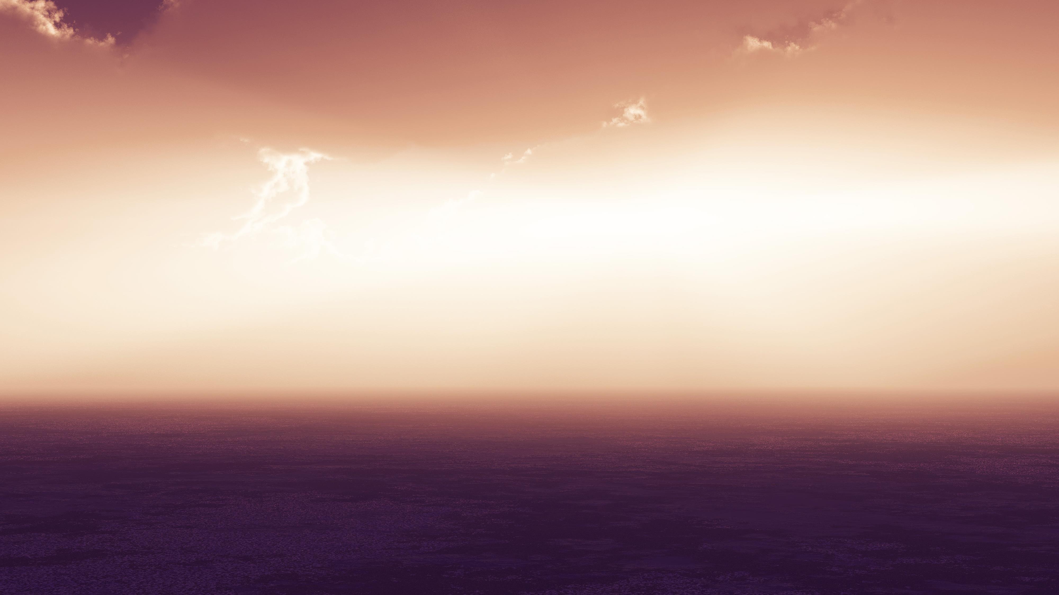 Морской пейзаж горизонт сумерки обои скачать