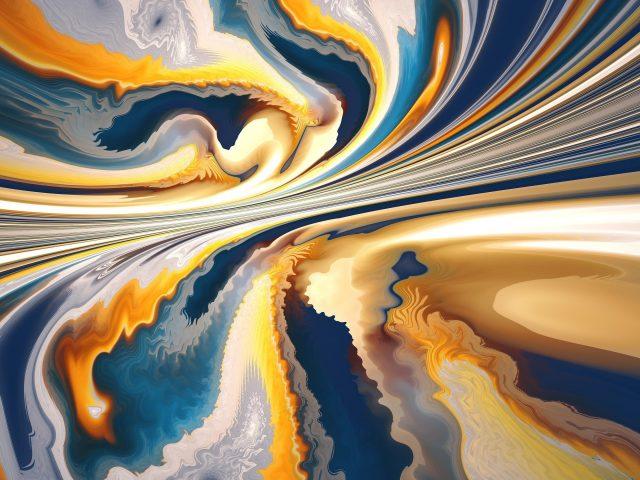 Желтые тепловые волны абстрактные