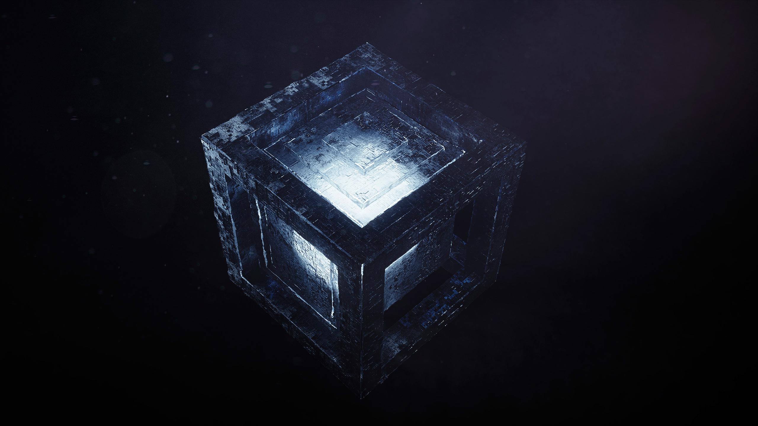 Светлый кубик обои скачать