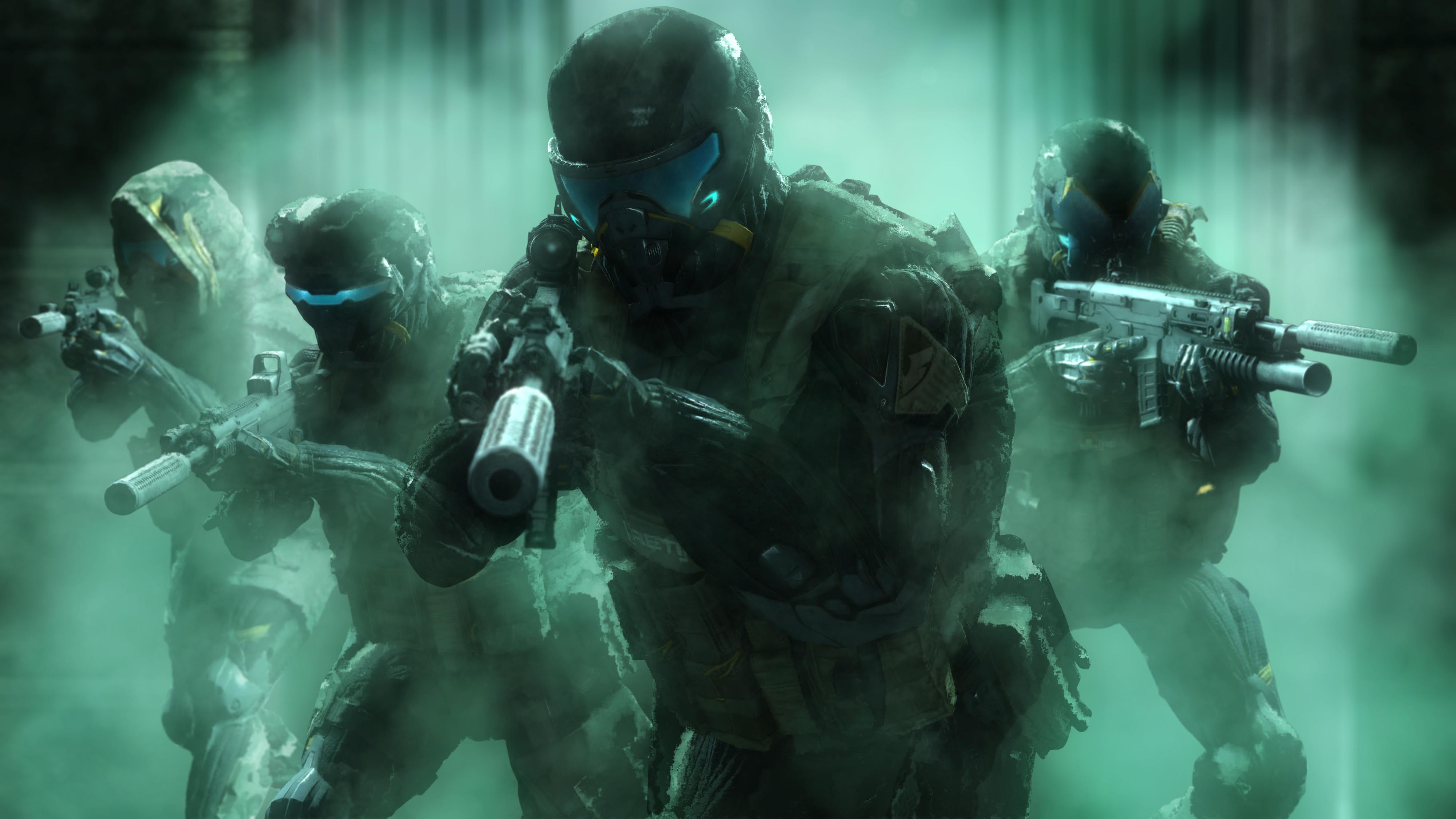 Солдаты-нанокостюмы обои скачать