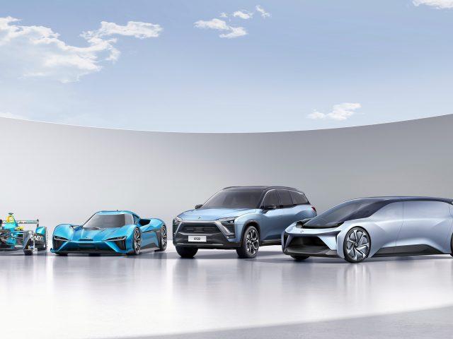 Nextev nio electric cars.