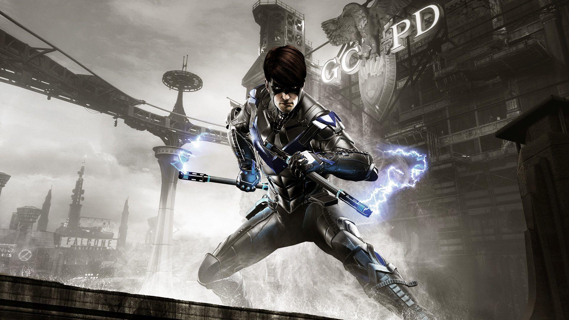 Бэтмен Arkham рыцарь Nightwing обои скачать