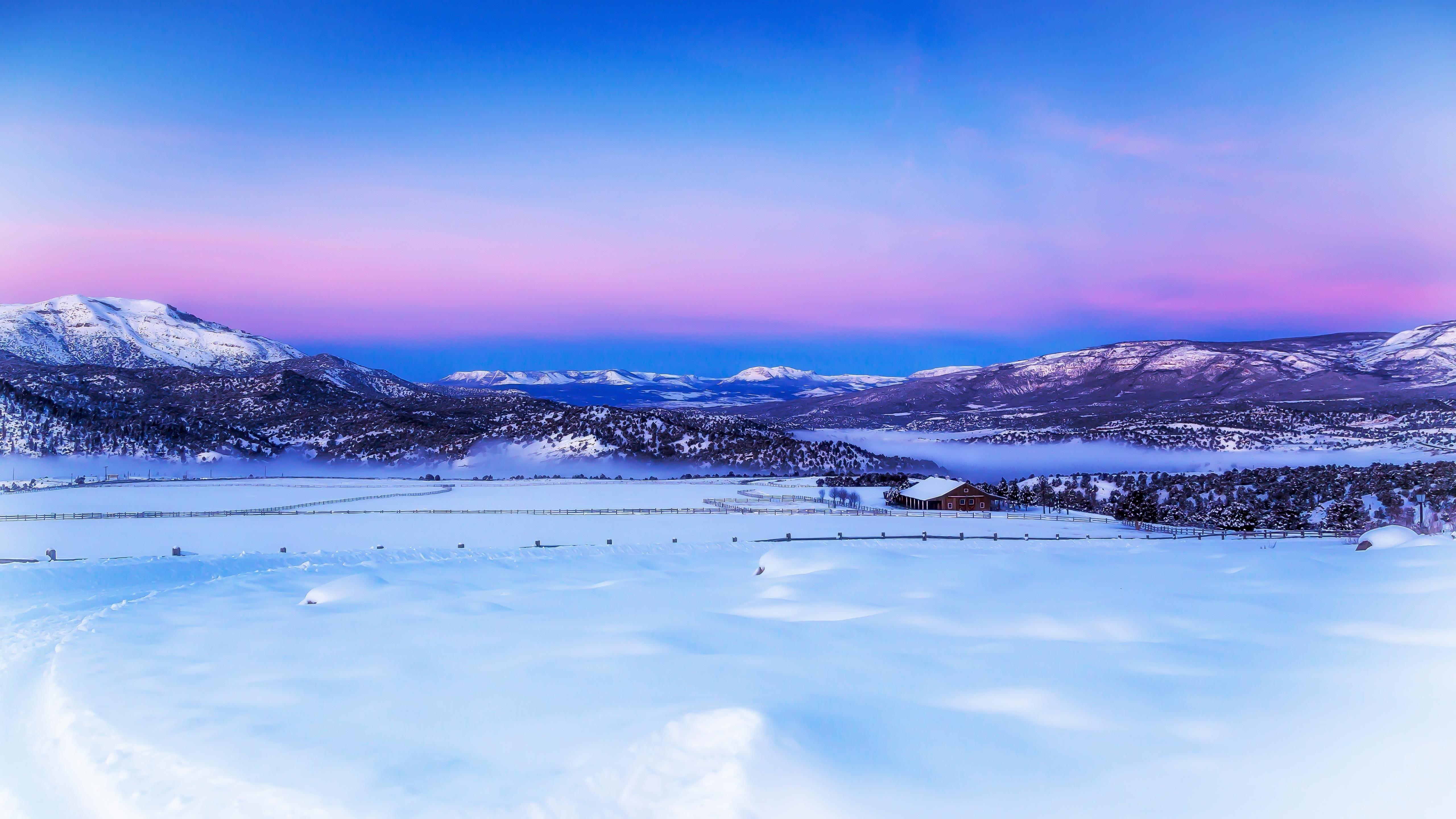 Зимние пейзажи обои скачать