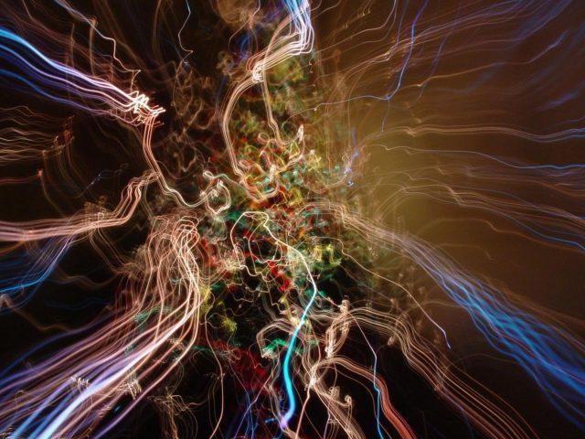 Цвета электрическое движение абстракция
