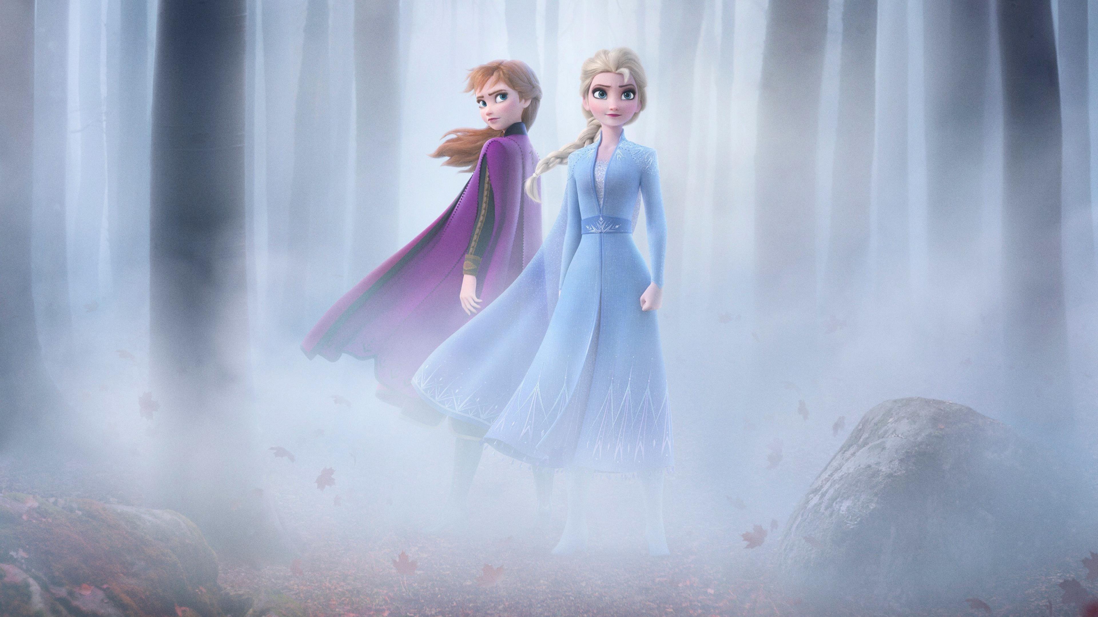 Замороженные 2 Эльза & Анна обои скачать