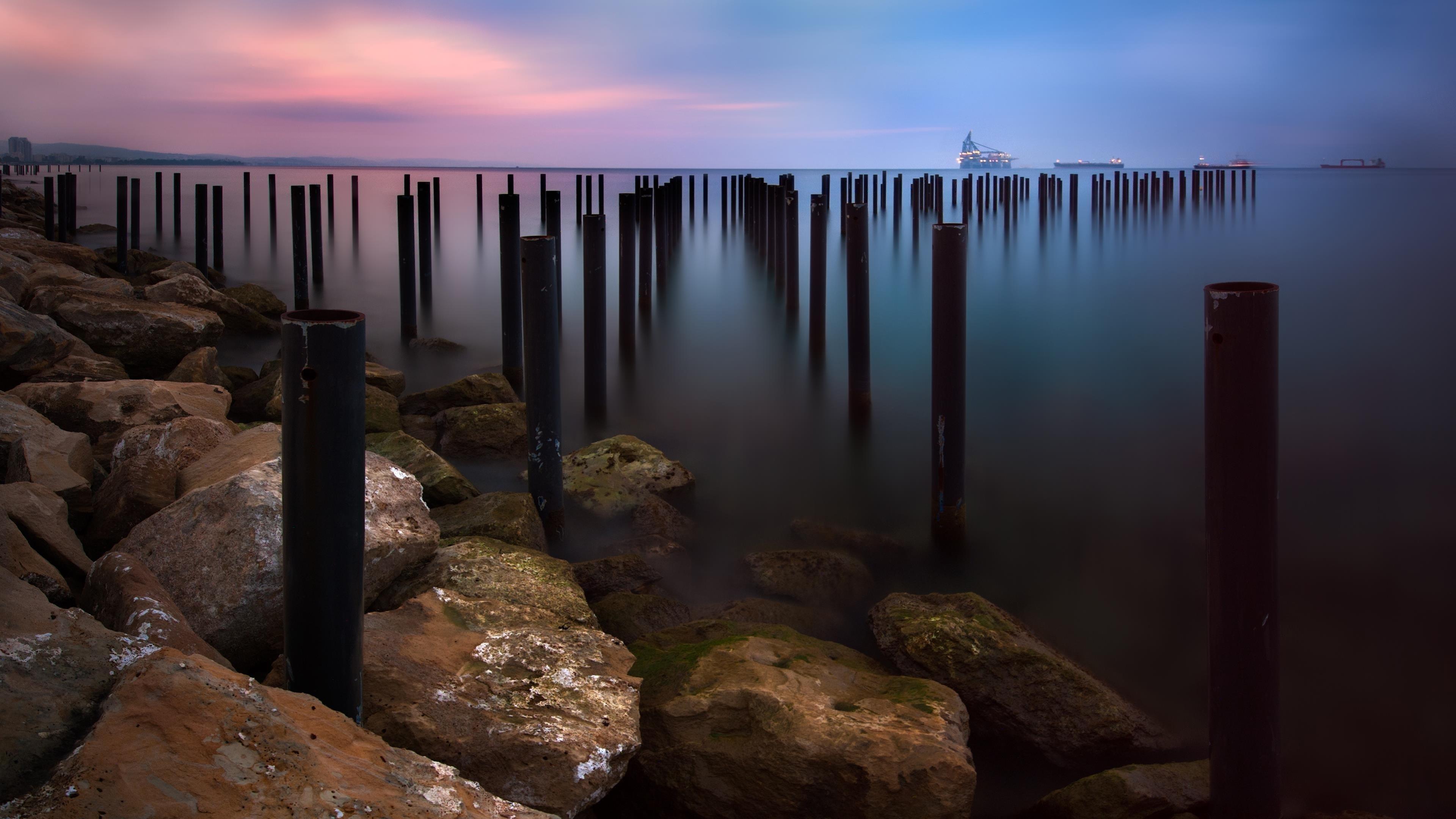 Морской пейзаж закат обои скачать