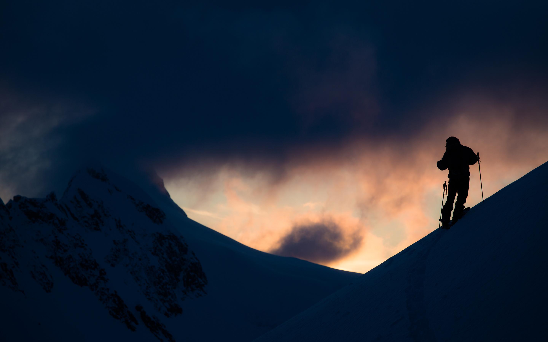 Аляска катание на лыжах. обои скачать
