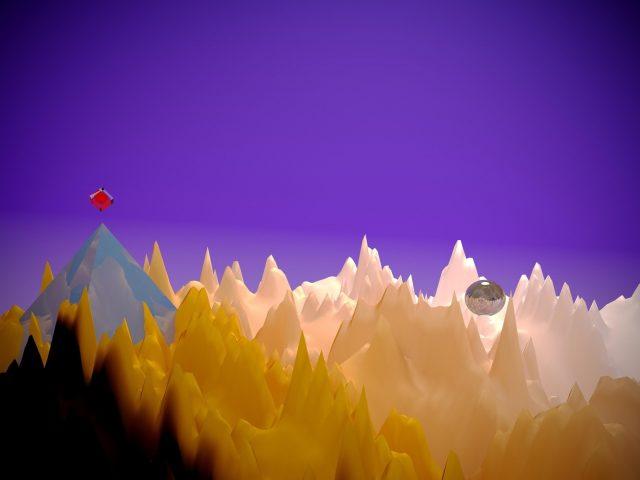 Пирамида пространство низкополигональное искусство абстракция