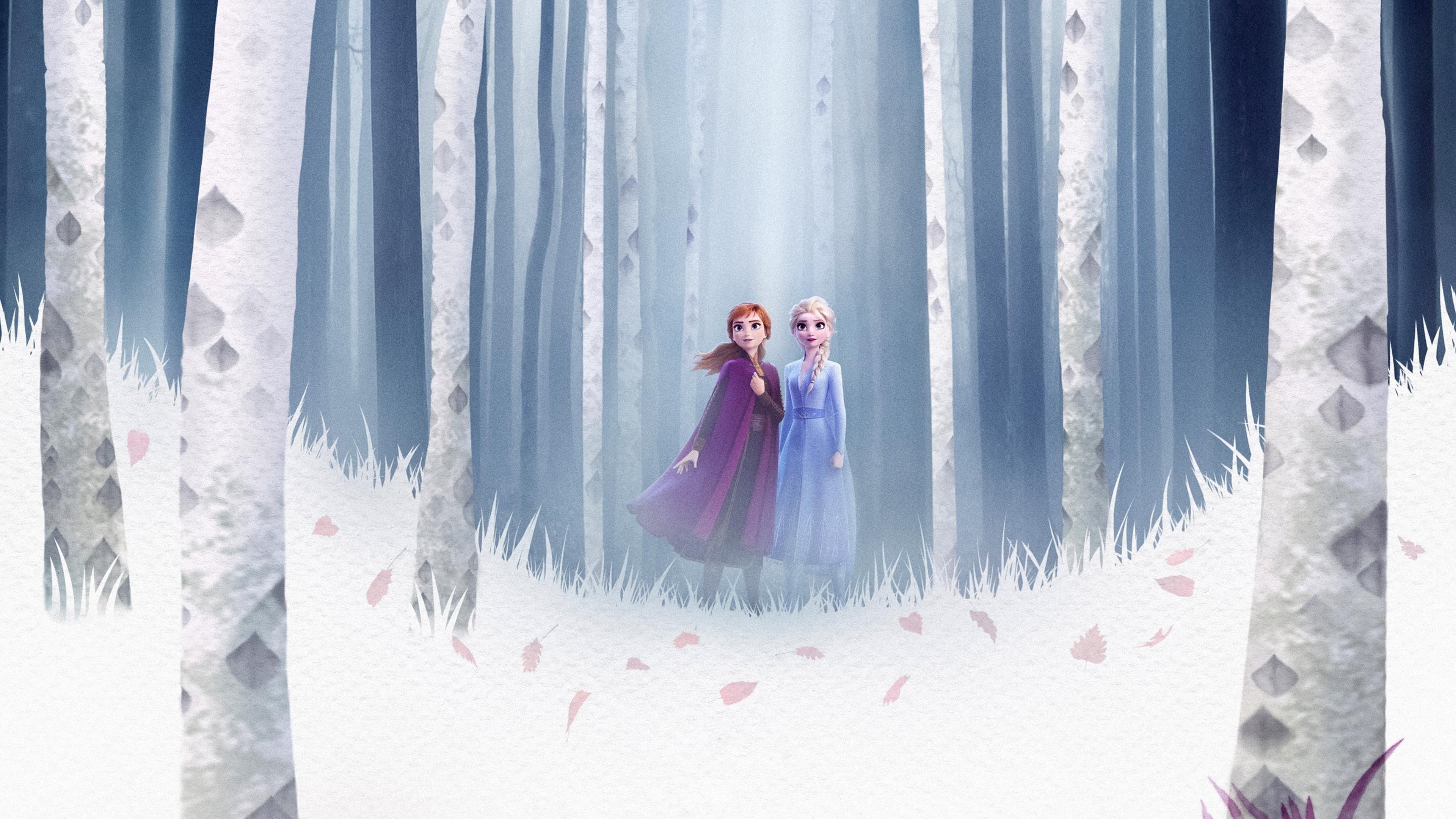 Elsa Анна замороженные 2 обои скачать