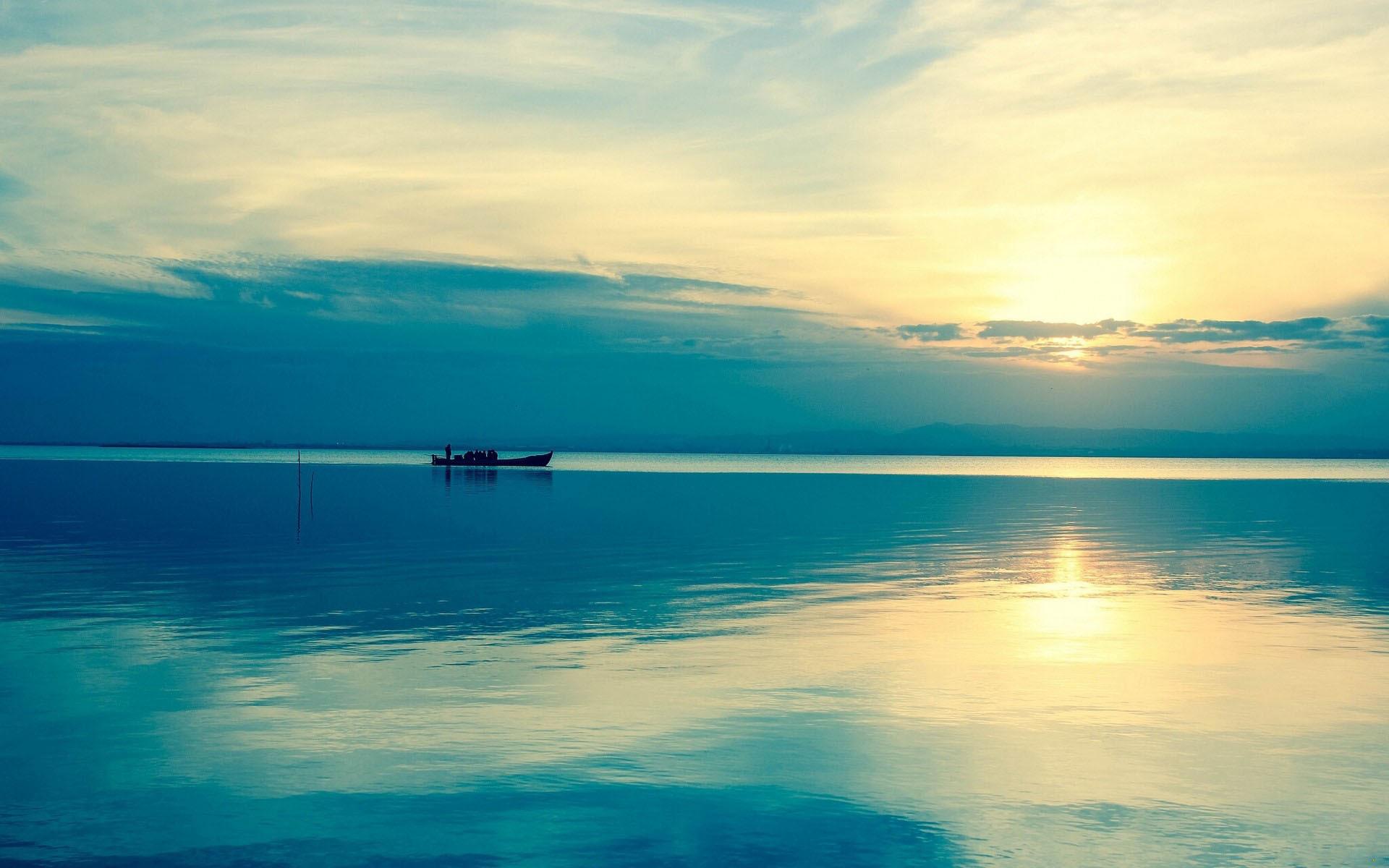 Река, вода, лодка обои скачать