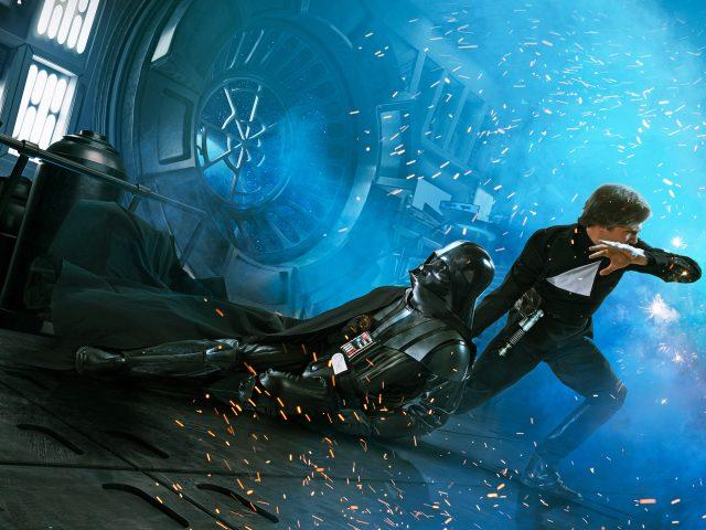 Люк Скайуокер Дарт Вейдер возвращение джедая.