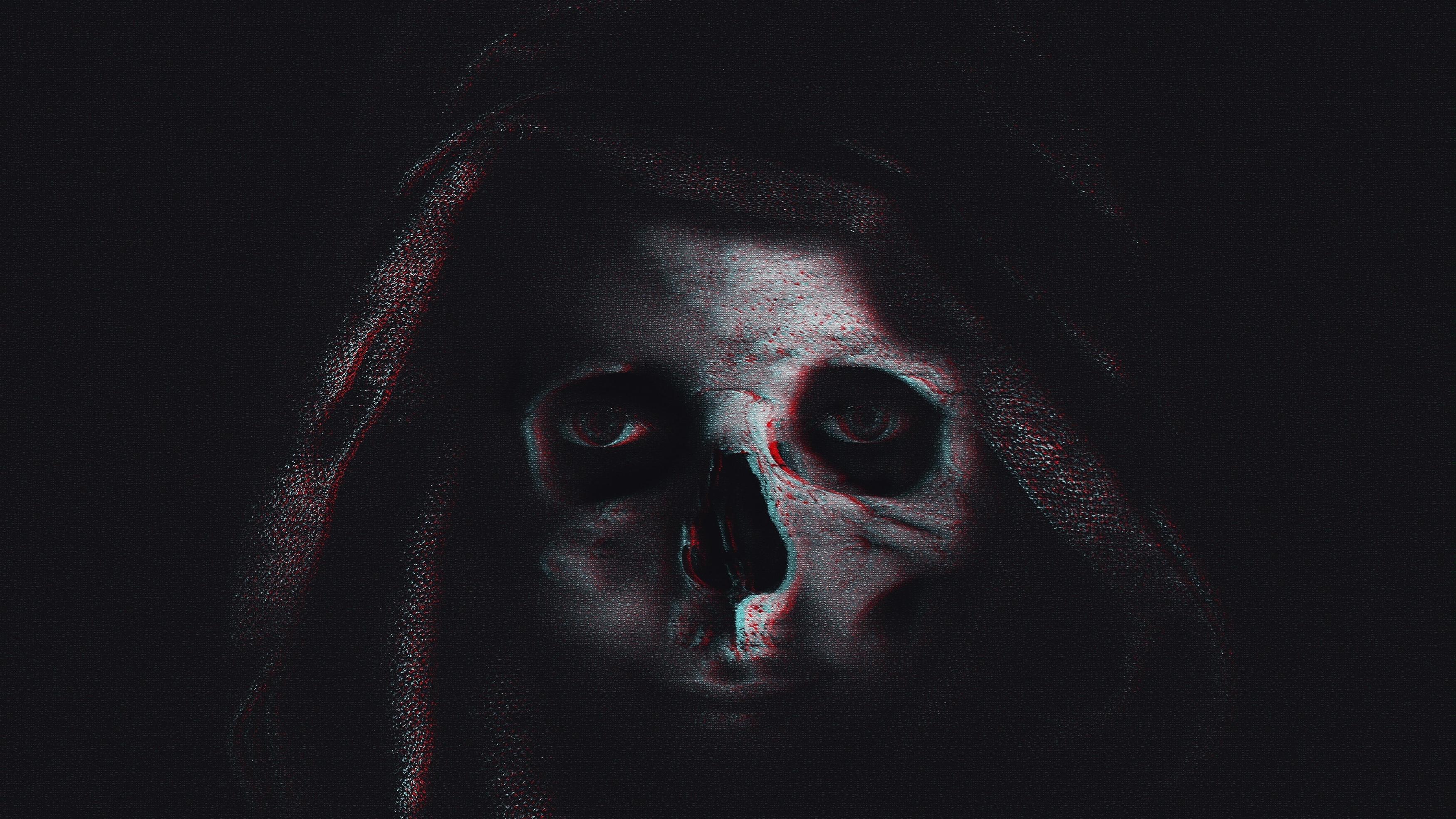Темный череп обои скачать