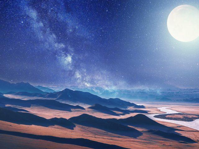 Луна пустынный пейзаж