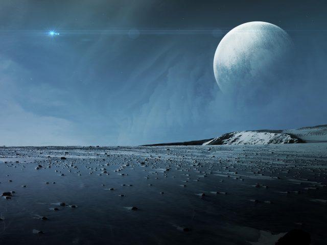 Поверхность Плутона Луна