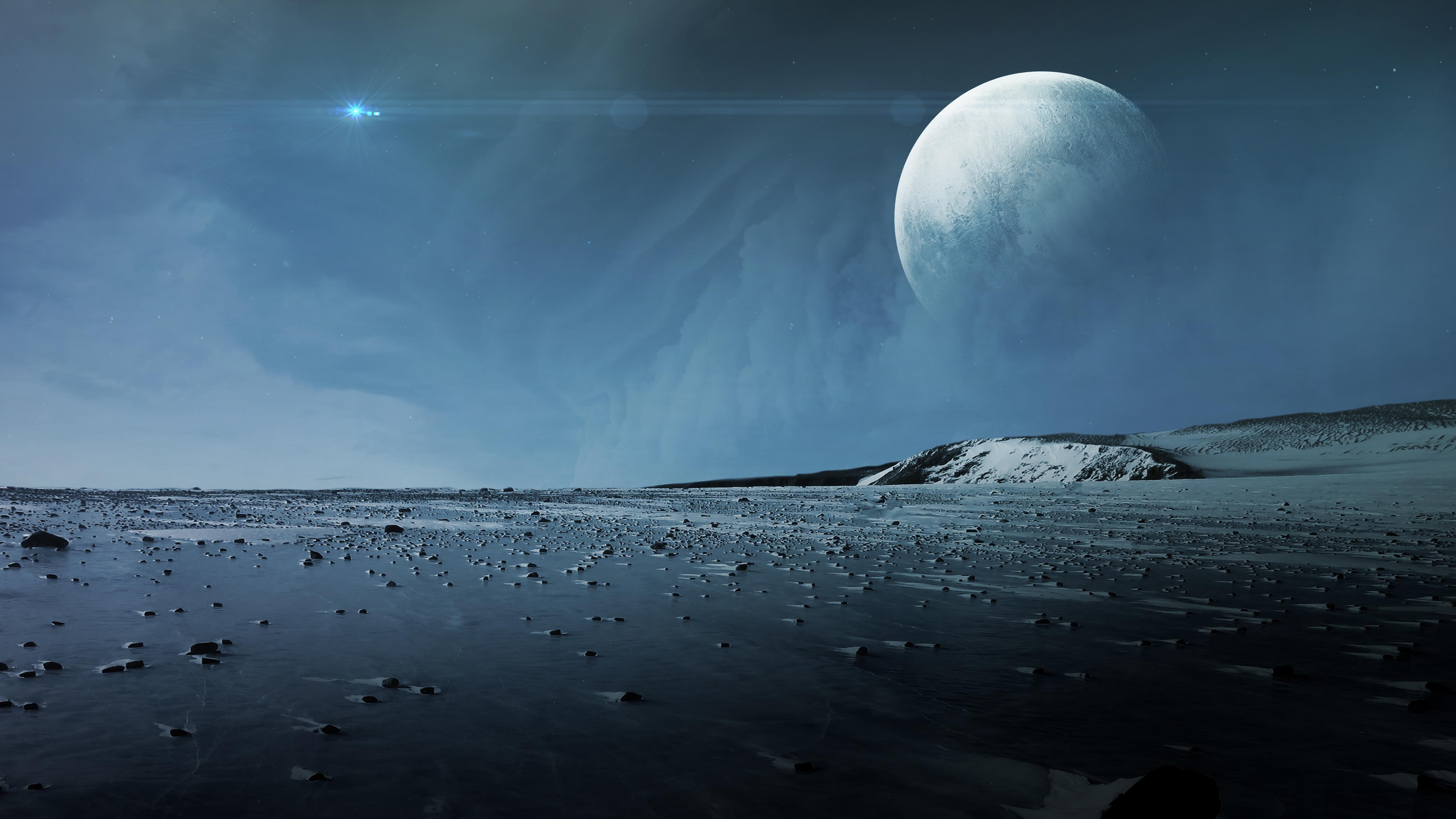 Поверхность Плутона Луна обои скачать