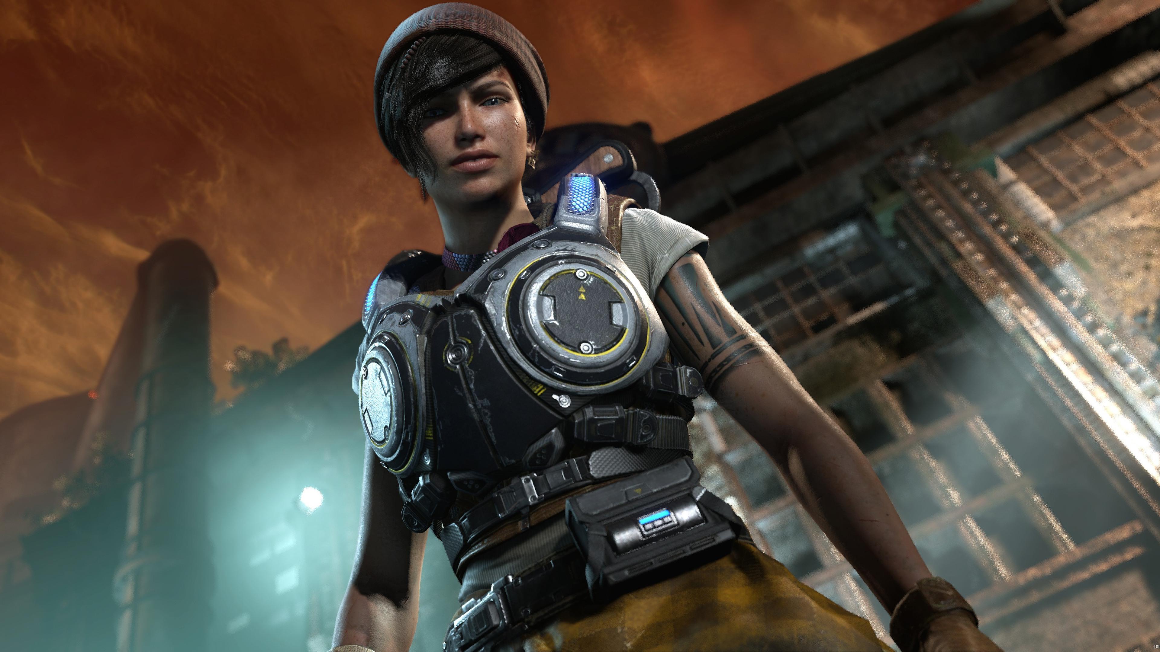 Kait Diaz Gears Of War 4 обои скачать