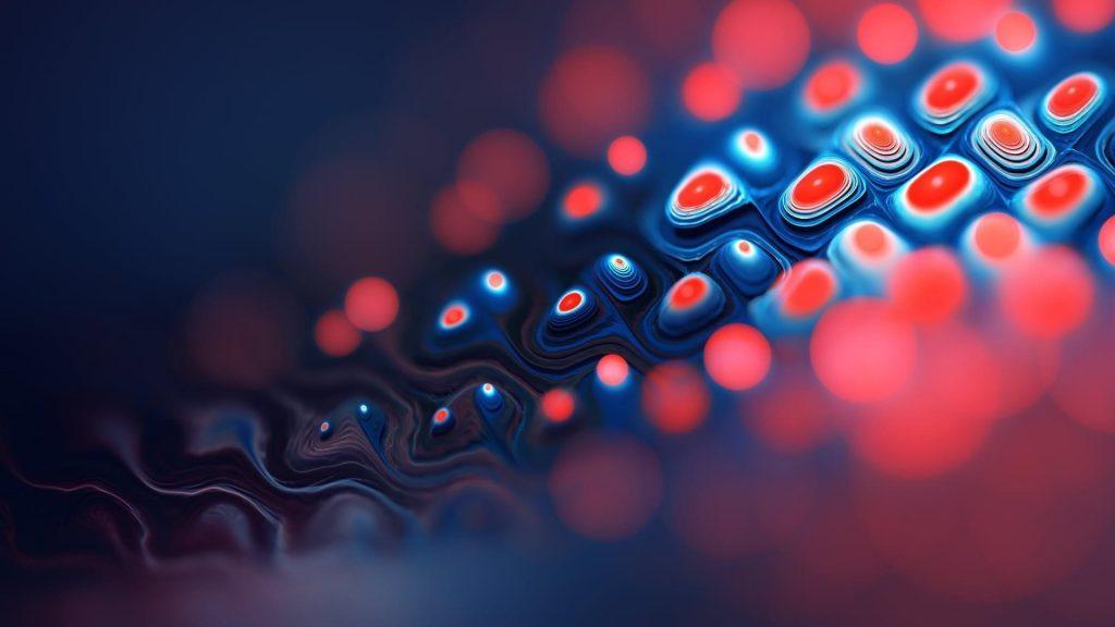 Красный и синий фрактал абстрактный абстрактный обои скачать