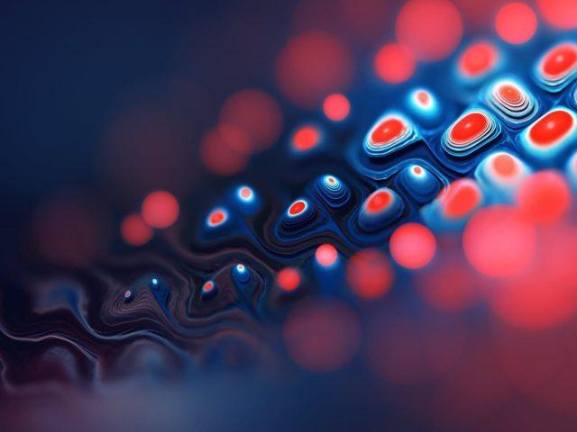 Красный и синий фрактал абстрактный абстрактный