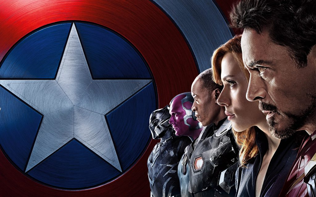 Капитан Америка Железный человек команда гражданской войны. обои скачать
